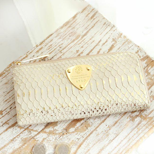 個性的で美しい模様が魅力の蛇革(パイソン)財布 ATAO リモパイソンリュクス